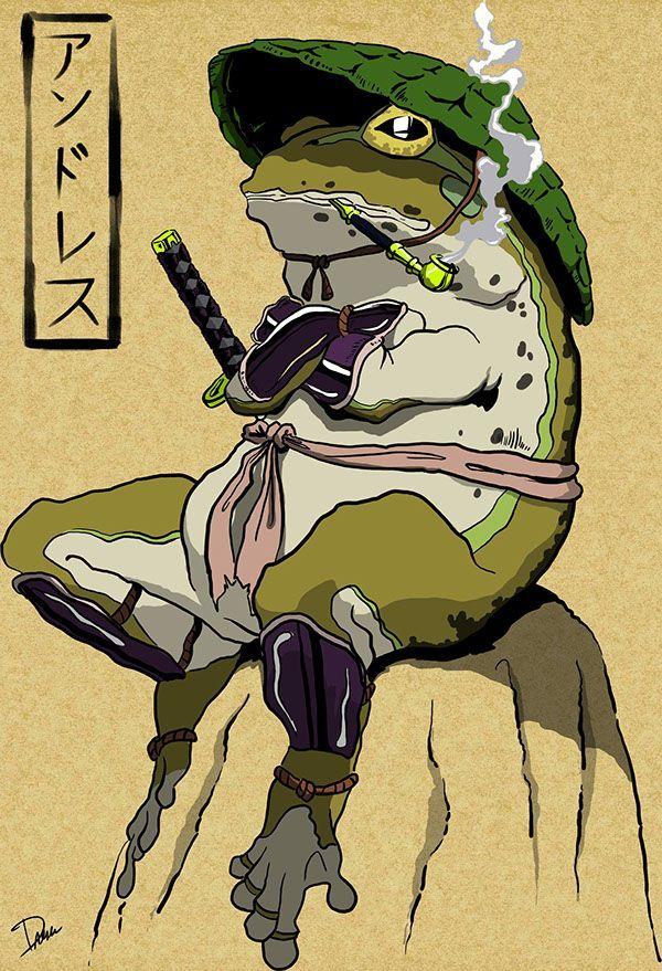 Photo of Samurai Frog – Digital Illustration on Behance