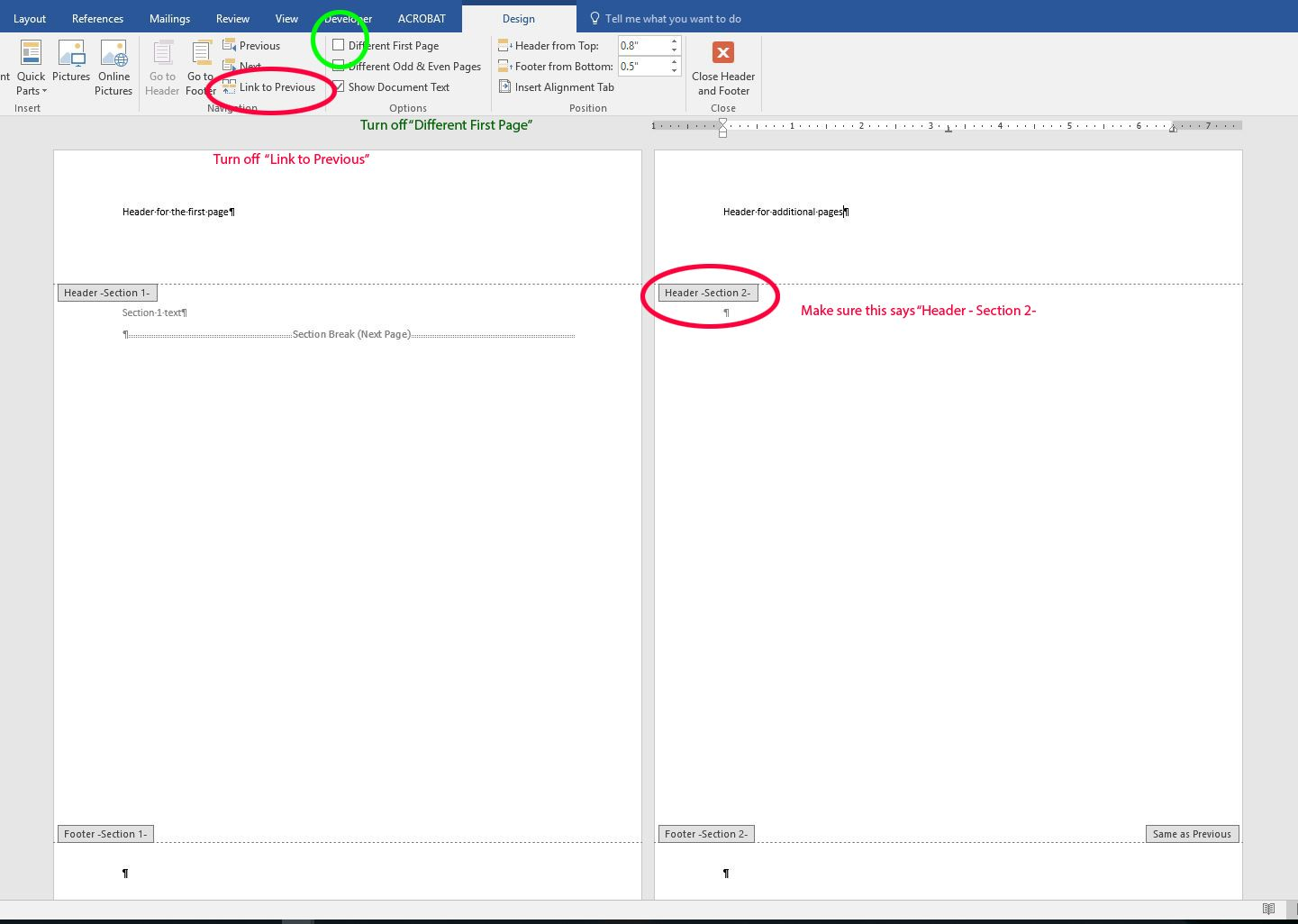 Different Sized Headers In Ms Word Letterhead Template