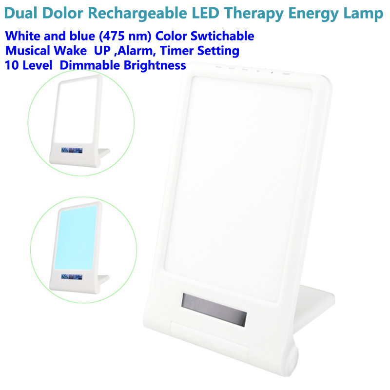 Portable And Rechargeable Light Therapy Energy Lamp Daylight Full Spectrum Light Lamp 10000 Lux Adjustable In 2020 Light Therapy Lamps Rechargeable Light Light Therapy