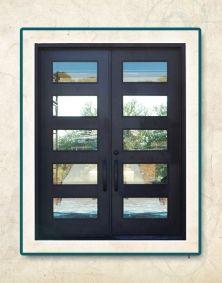 San Antonio Contemporary Iron Doors Texas Wrought Entry Exterior