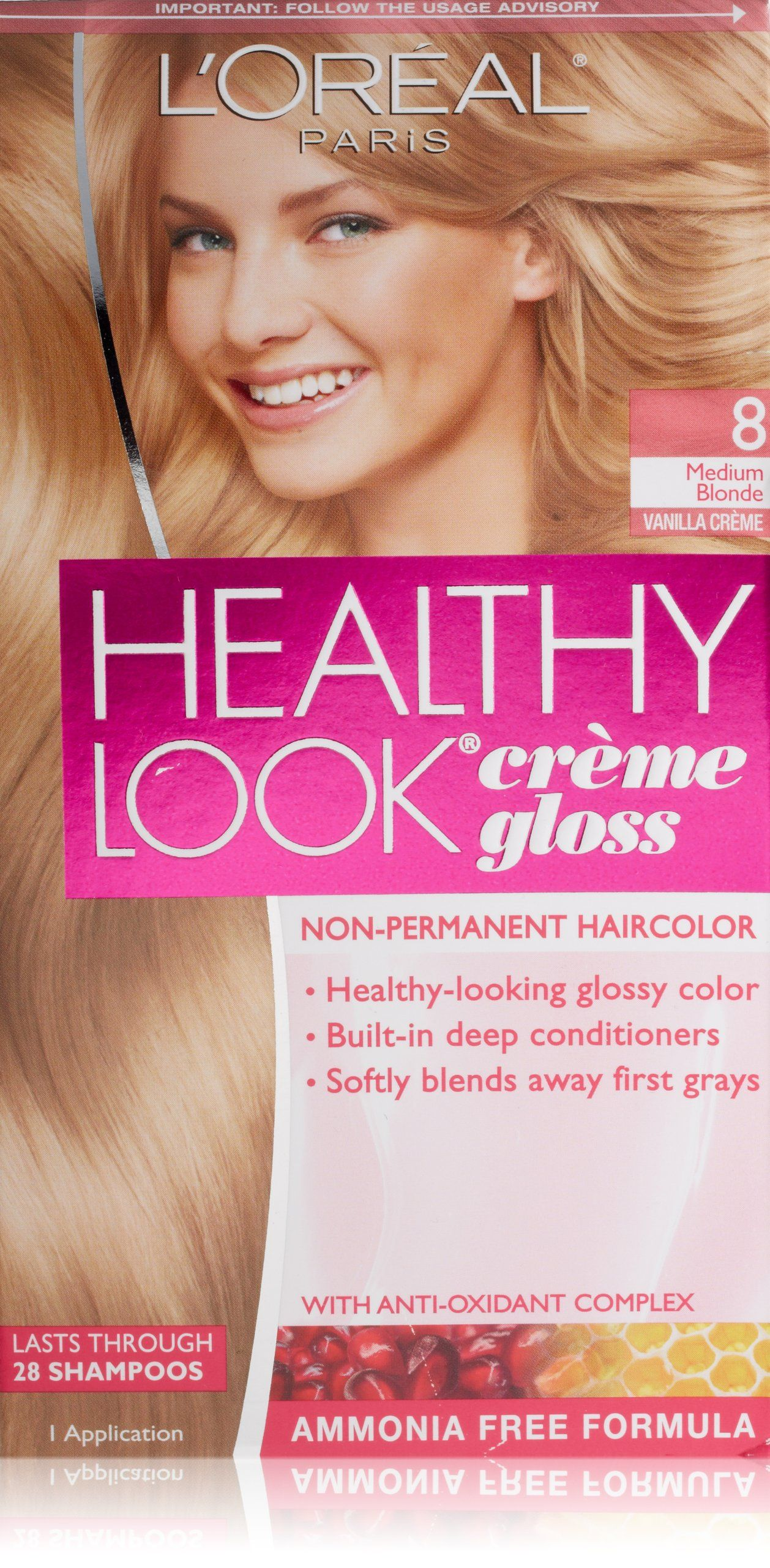 Amazon.com : L'Oreal Healthy Look Creme Gloss Hair Color, 1 Rich Black/Double Espresso : Chemical Hair Dyes : Beauty