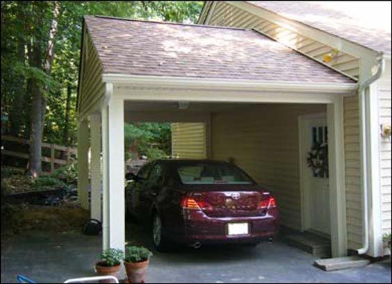 Carport maybe the leaning should go more with the slope for Building a detached garage on a slope