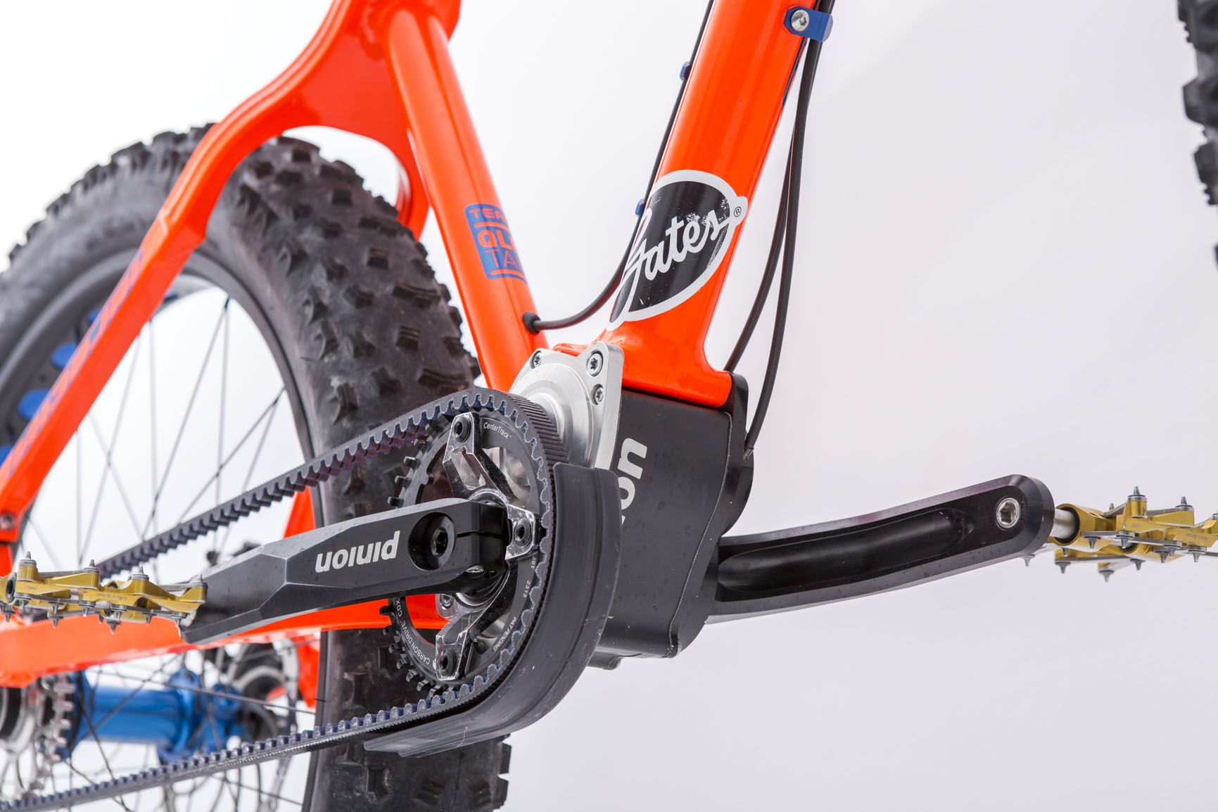 Pinion Gearbox And Gates Carbon Drive On A Nicolai Bike From