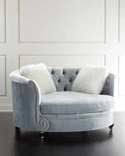 Haute House Harper Tufted Cuddle Chair Furniture Cuddle Chair Sofa Design