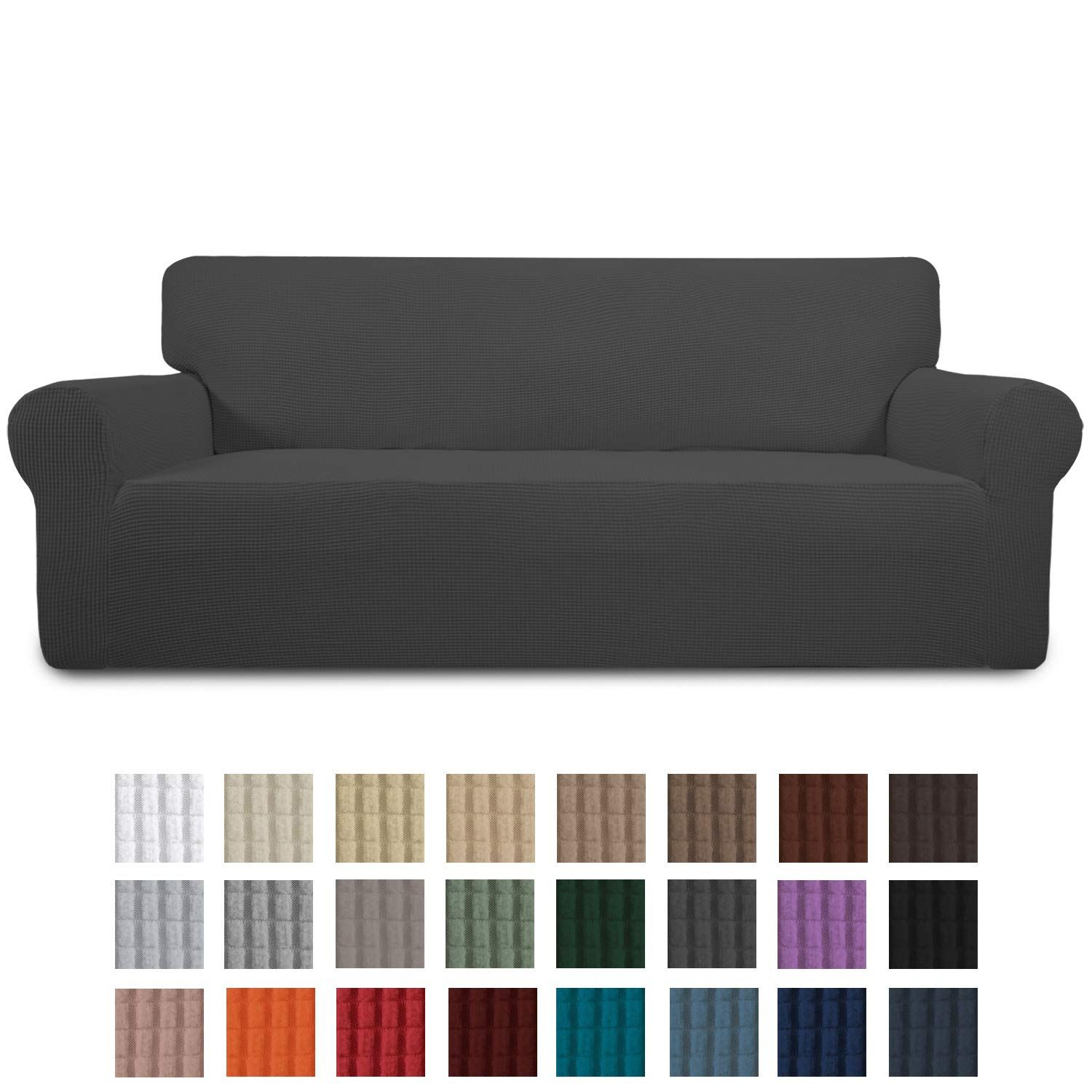 Easy Going Stretch Sofa Slipcover 1 Piece Couch Sofa Cover Furniture Protector Soft With Elastic Bottom For Kids In 2020 Slipcovered Sofa Slipcovers Slip Covers Couch
