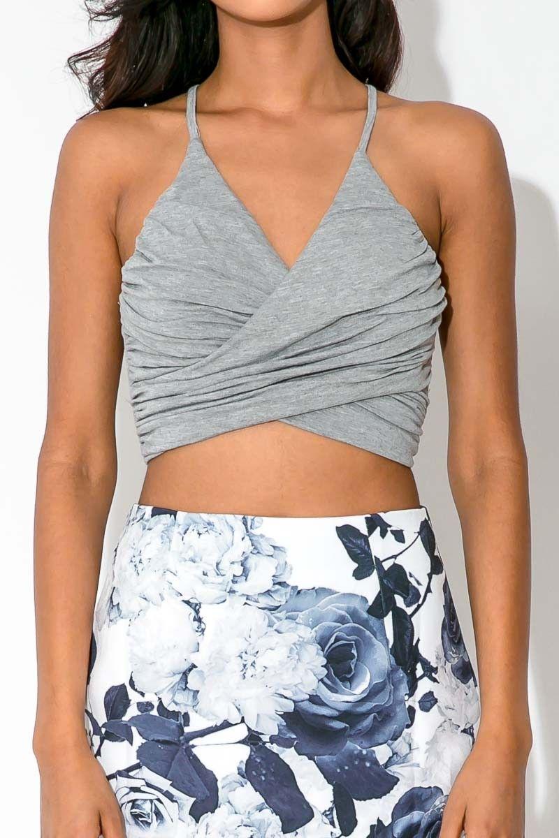 Grey marle top $27.95 Dolly Girl Fashion