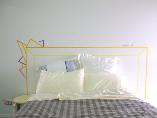 Washi Tape Headboard Diy Com Imagens Decoracao De Casa