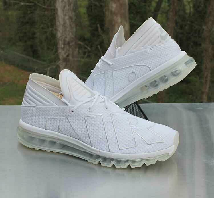 4d574db9c5 Nike Air Max Flair Triple White Men's Size 11.5 Pure Platinum 942236-100 # Nike
