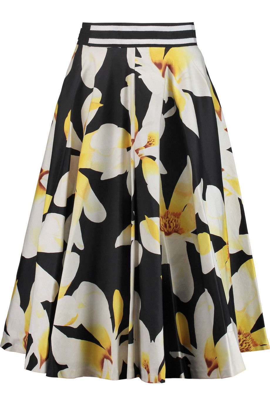 3ba958e24 ALICE AND OLIVIA Diana Pleated Printed Stretch-Cotton Crepe Skirt.  #aliceandolivia #cloth #skirt