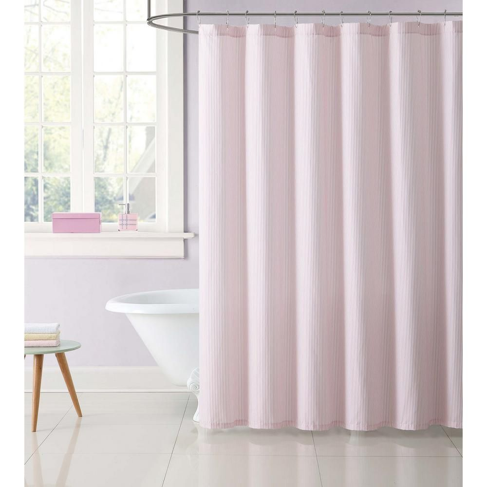 Truly Soft 72 In Stripe Gray Shower Curtain Sc2330gy 6200