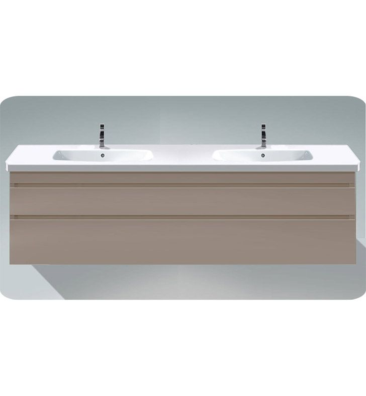 Duravit Ds6498 Durastyle 48 3 8 Wall Mount Double Bathroom Vanity