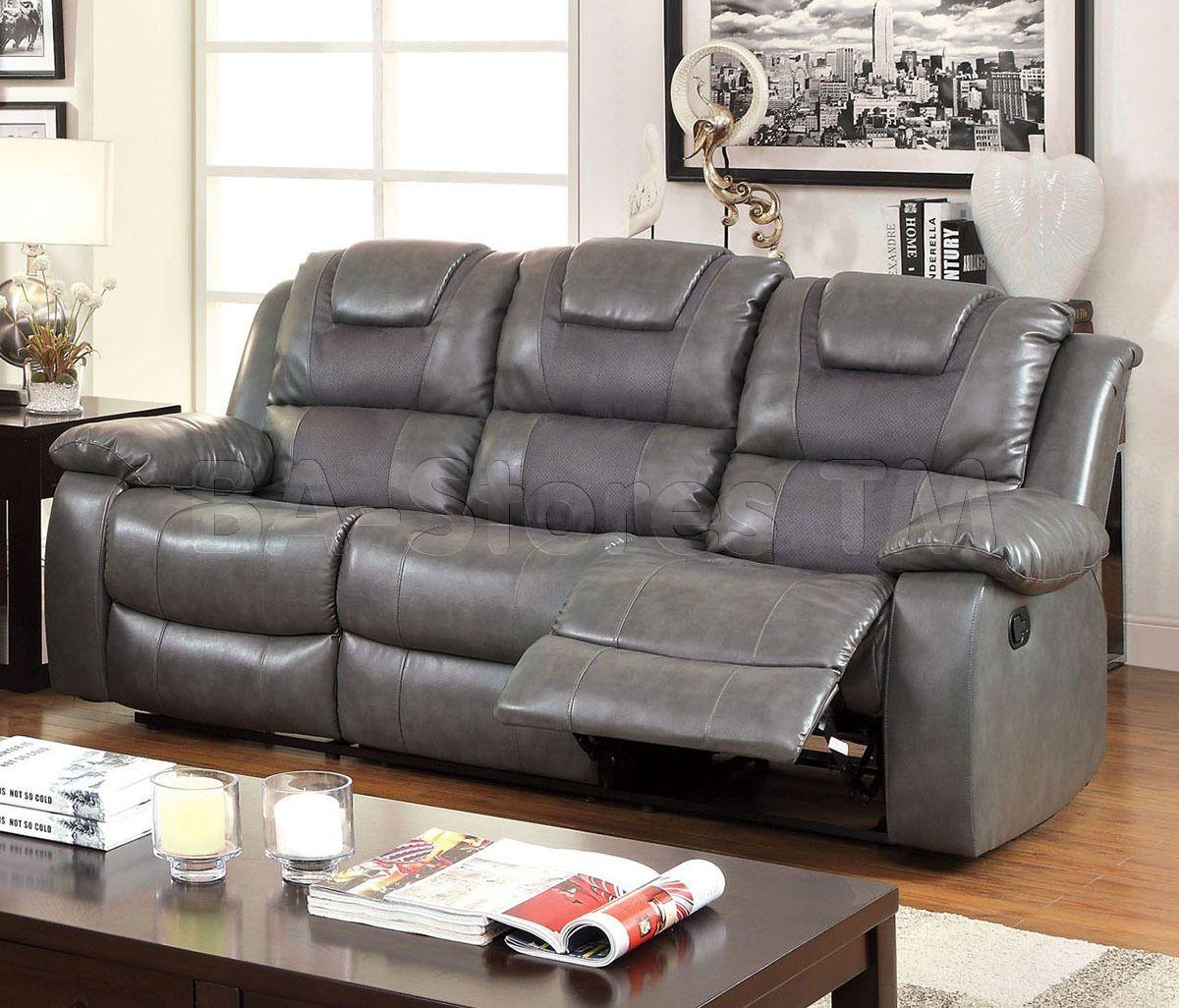 Grandolf Reclining Sofa in Grey by Furniture of America