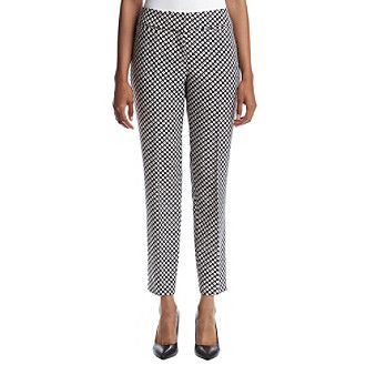 Nine West® Printed Bluebrry Slim Pants