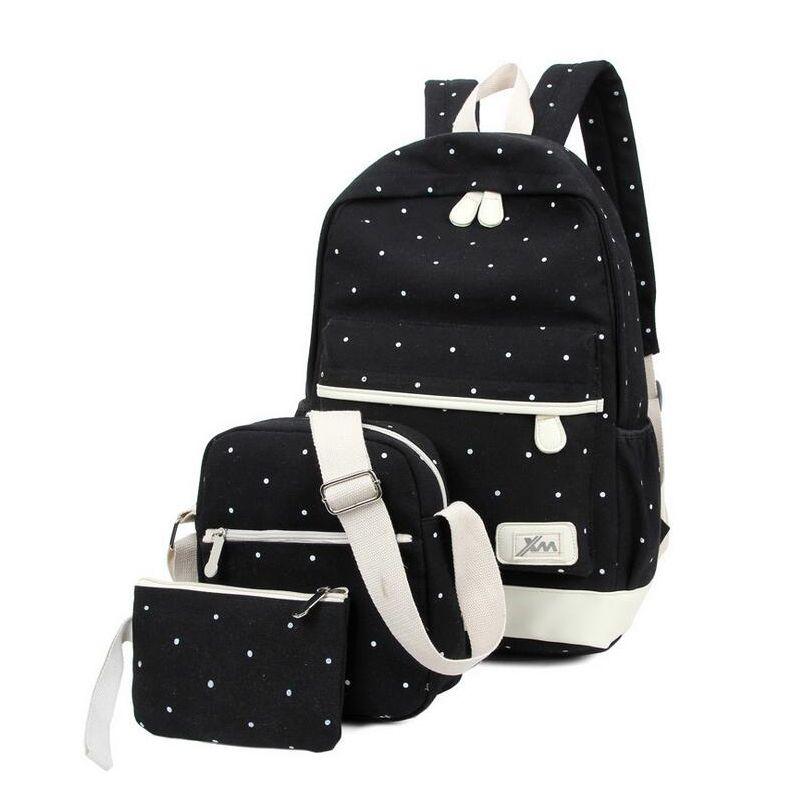 2017 Canvas Women backpack Big Capacity School Bags For Teenagers ...