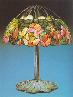 Tiffany Table Lamp Stained Glass Lotus