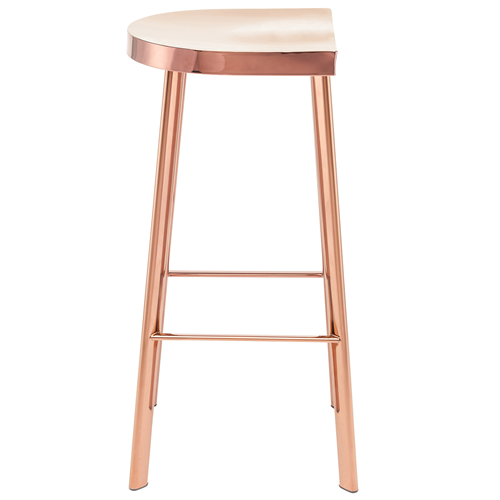 Nuevo Icon Rose Gold Stainless Bar Stool