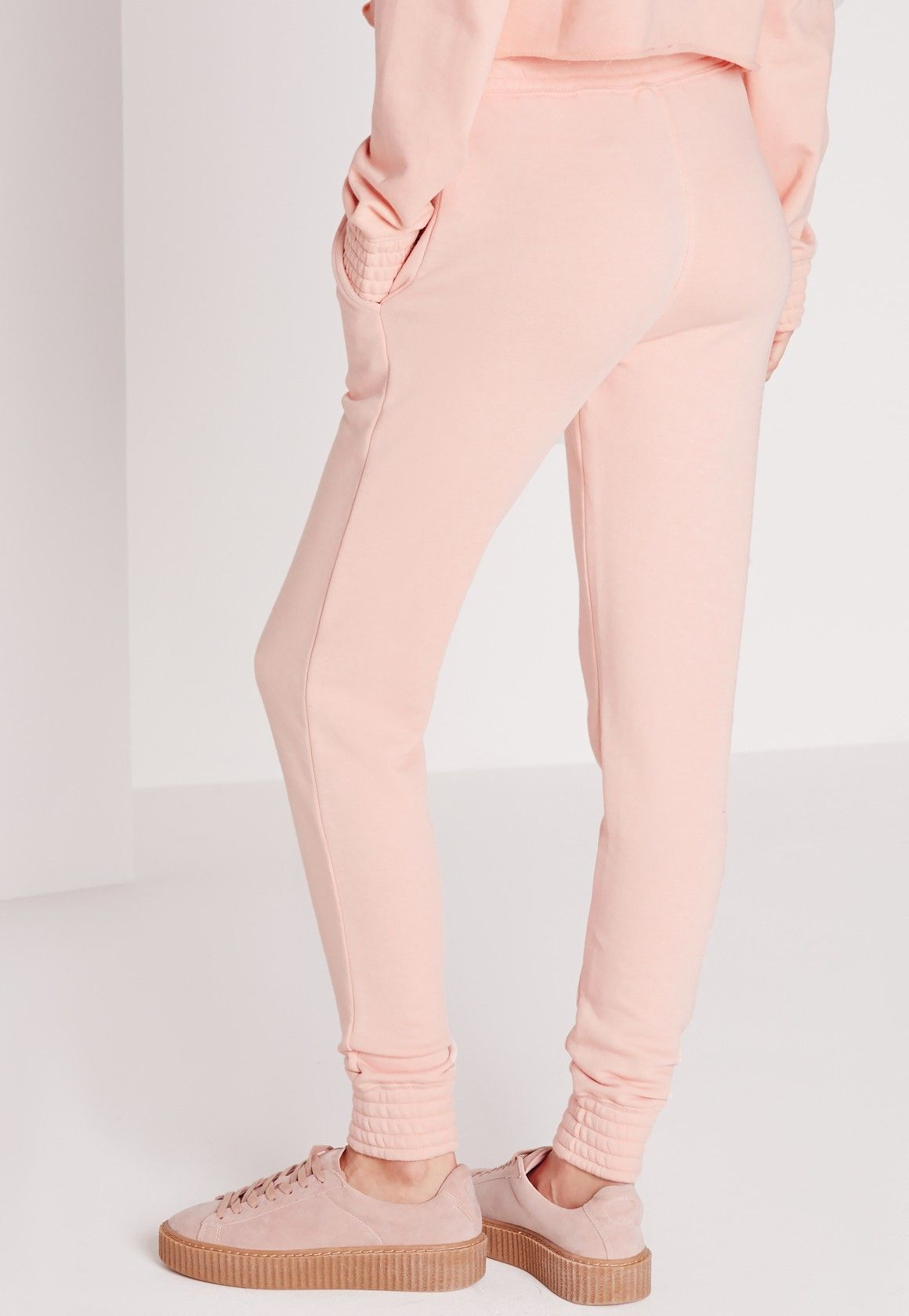 Missguided Slim Fit Joggers Pink