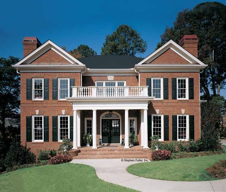 Eplans Neoclassical House Plan Classical Symmetry 3104 Square Feet And 4 Bedrooms S Fro Colonial House Plans Brick Exterior House Colonial House Exteriors
