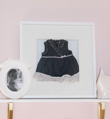 Online Interior Design: Baby Memorabilia as Art #babymemorabilia