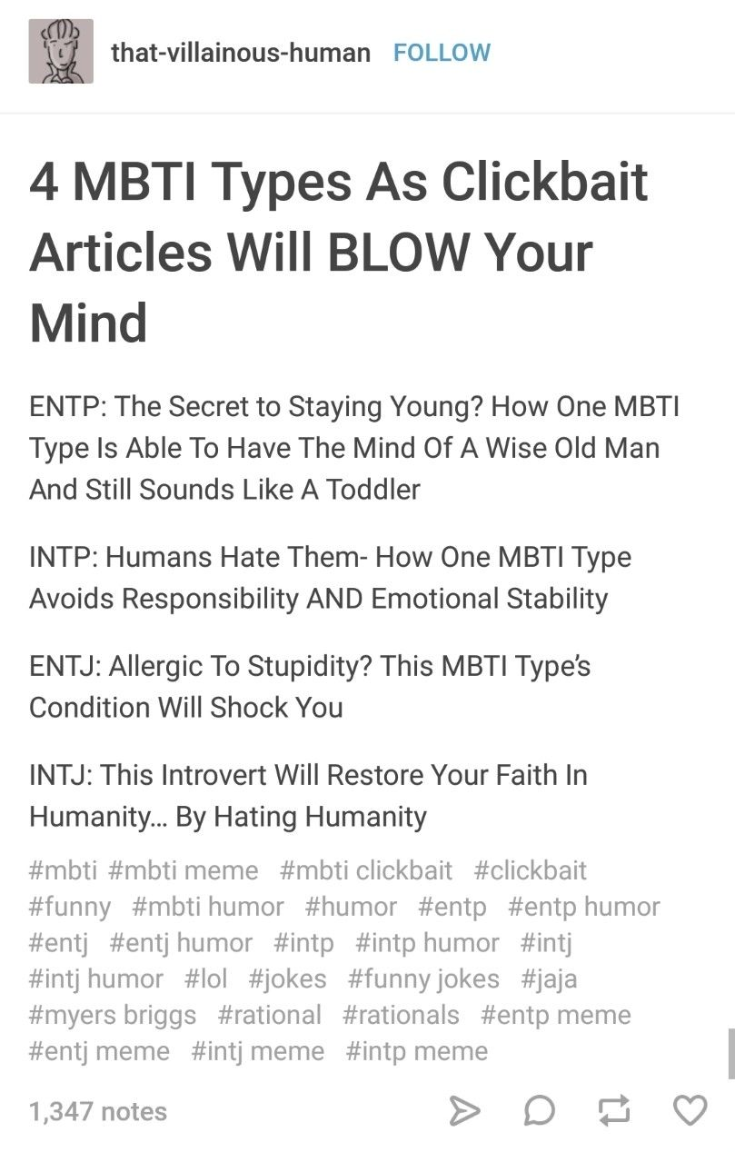 Mbti And Nt Users As Clickbait Articles Will Blow Your Mind