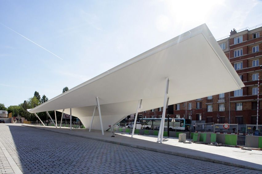 A Canopy and a Pavilion at Porte des Lilas / Matthieu Gelin u0026 David Lafon & A Canopy and a Pavilion at Porte des Lilas / Matthieu Gelin ...