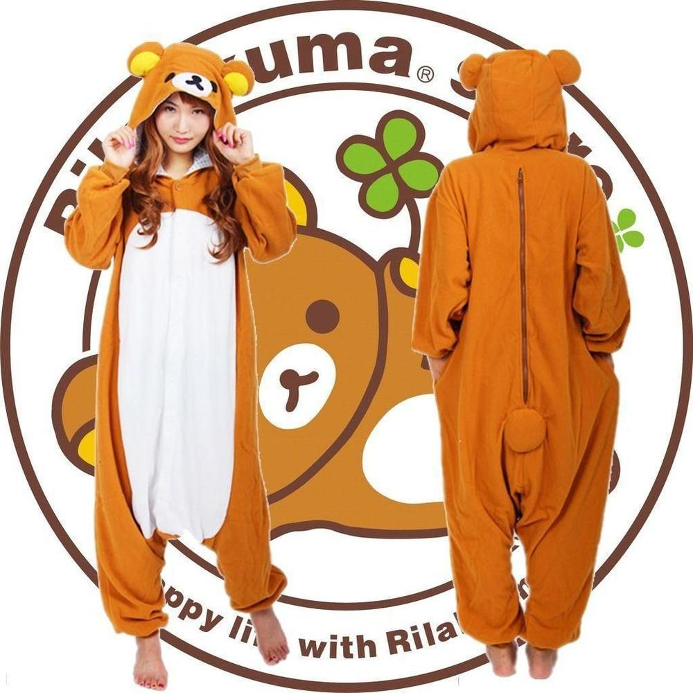 Anime Rilakkuma Reindeer Orchid Unicorn Santa Oswald Scrump Platypus Lucky Bear Pajama Costume Unisex Adult Onesie Sleepwear-in Clothing from Novelty ...  sc 1 st  Pinterest : anime bear costume  - Germanpascual.Com