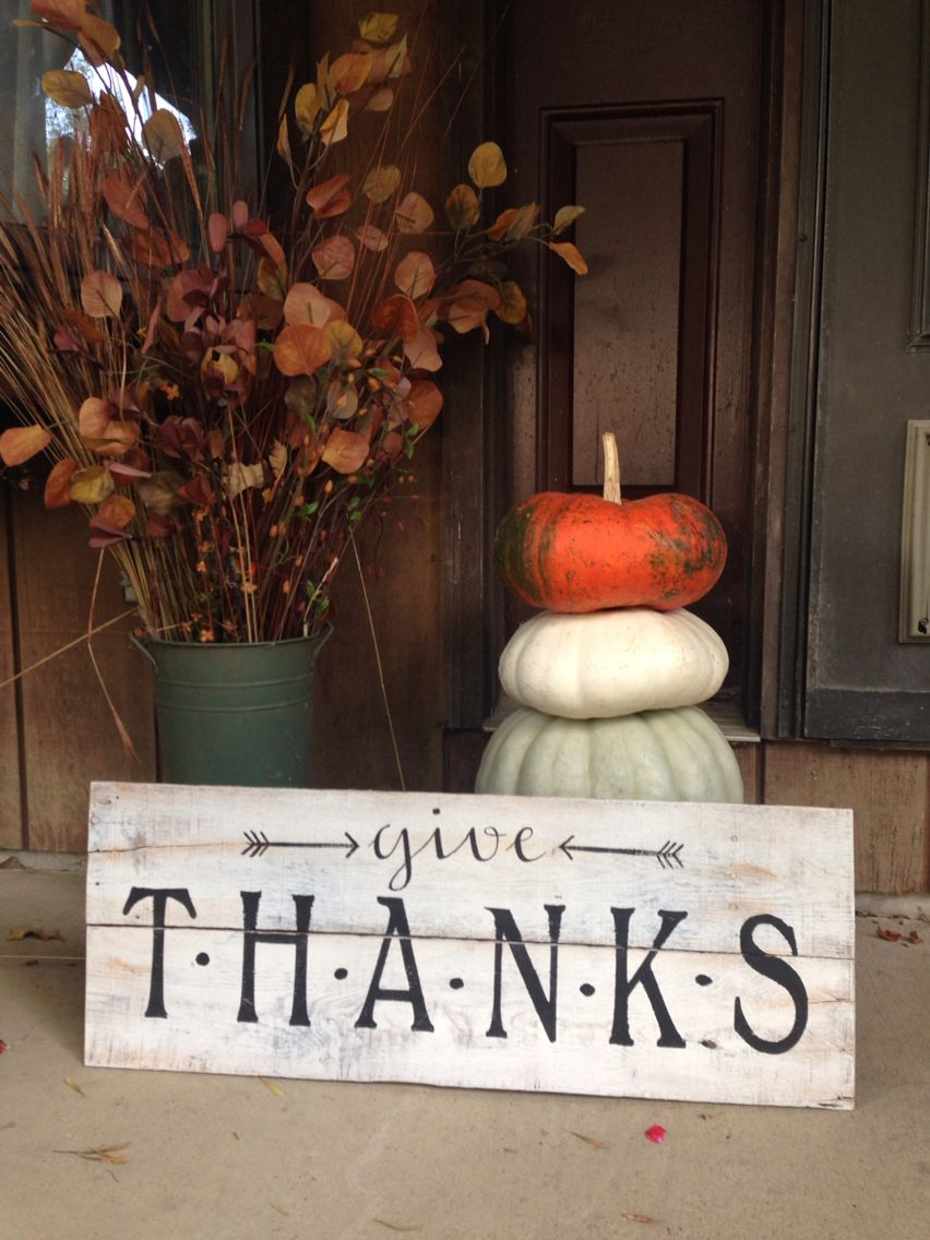 Thanksgiving Pallet Sign Fall And