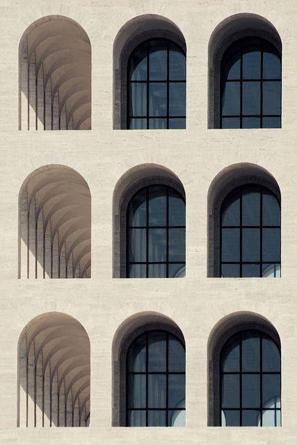 Colosseo quadrato giovanni guerrini ernesto bruno la for Architettura di interni