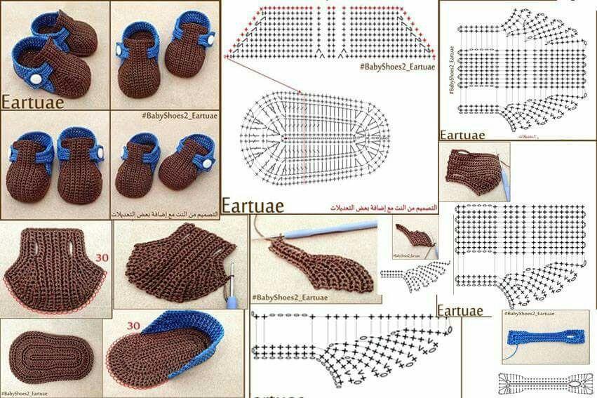 Puntadas para zapatitos de bb! | tejido (crochet) | Pinterest ...