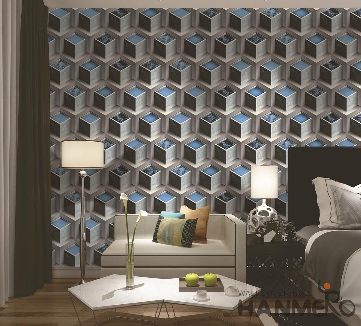 PVC 3D Effect Wallpaper Designs 0 53 10M Per Roll Building
