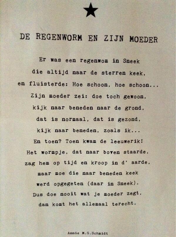 Citaten Annie Mg Schmidt : Hannekederksen on gedichten twitter en teksten