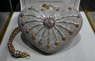 World Most Expensive Purse World Record set by Mouawad 1001 Nights Diamond Purse ~ World Amazing Records