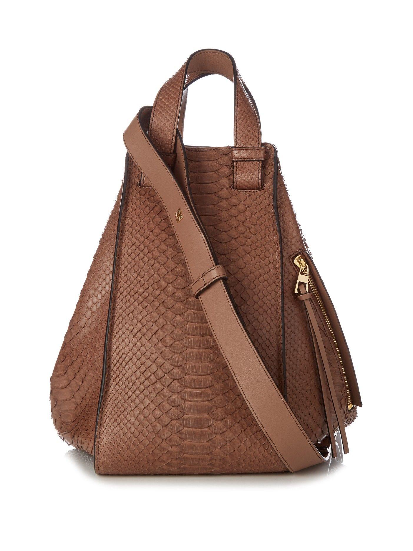 Hammock Python And Leather Bag Loewe T0o26ZFP9c