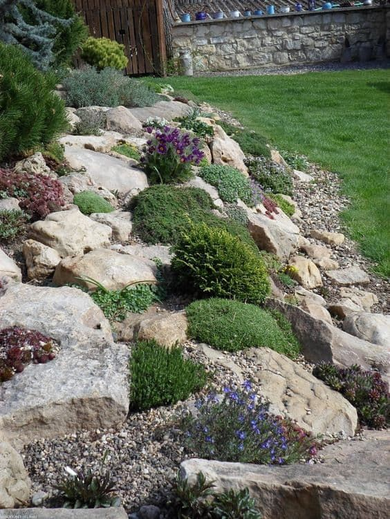 15 erstaunliche Steingarten-Design-Ideen rock garden #vorgartenanlegen