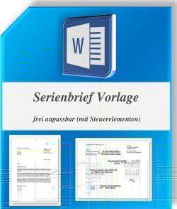 Word Serienbriefvorlage Mit Steuerelementen Und Pdf Anleitung Briefvorlagen Geschaftsbrief Vorlage Geschaftsbrief