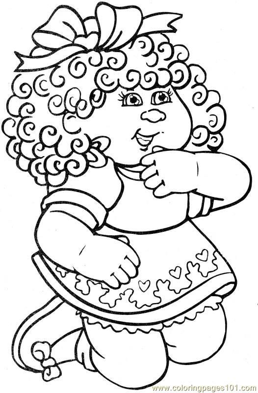Cabbage Patch1 2 Eovtd Jpg 526 800 Coloring Pages Vintage