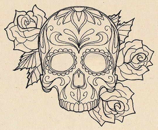 Thread Tattoos Sugar Skull Urban Threads Unique And Awesome