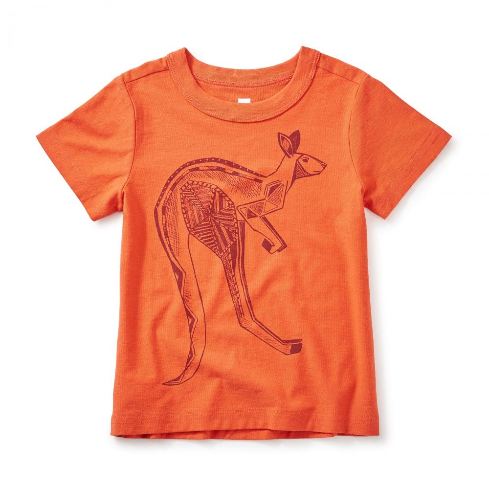 Kangaroo Graphic Tee | Kangaroos are fascinating and fun to watch. We created this original colored pencil sketch of Australia's most well-known marsupial.