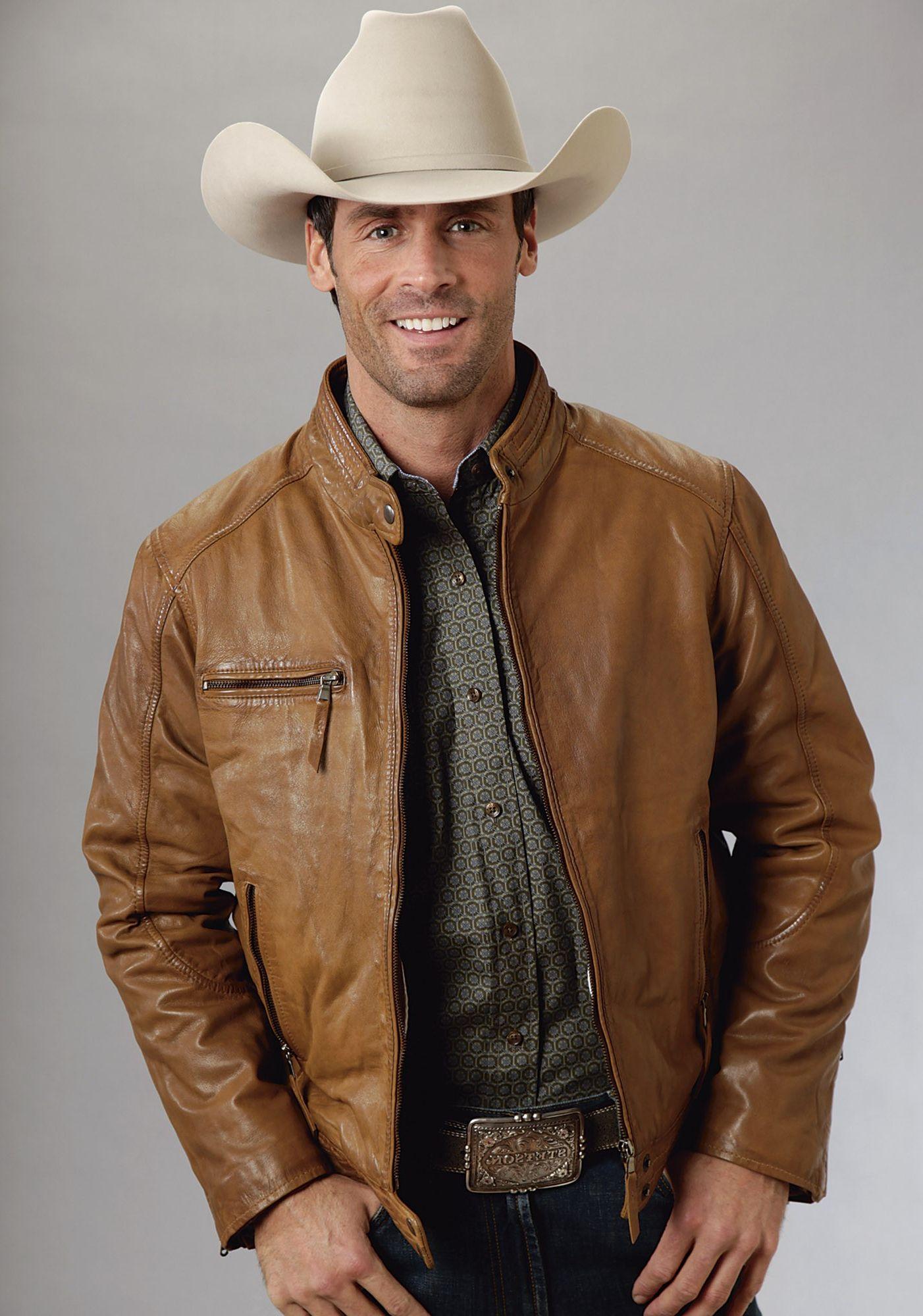 7997b9603706 Men s Leather Cowboy Jackets   Clothing Catalog   Pinterest