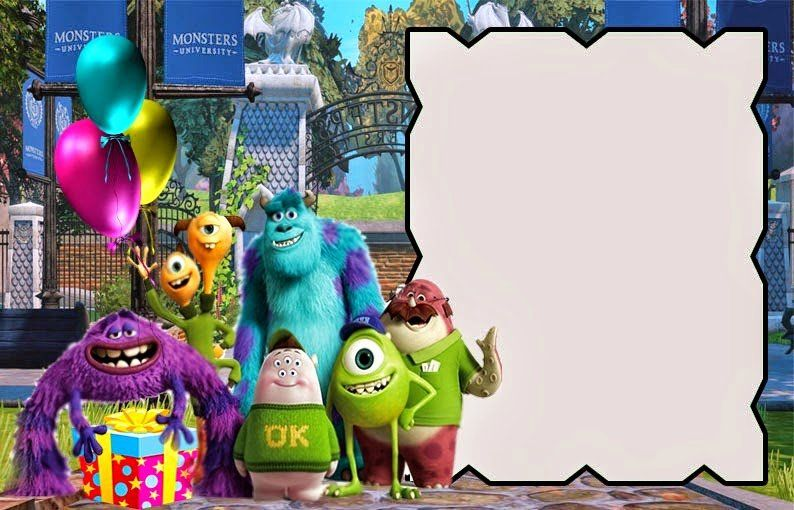Free Monsters Inc Invitation Template Lovely Free Printable Monsters Monsters University Invitations Monsters Inc Invitations Monsters Inc Invitations Template