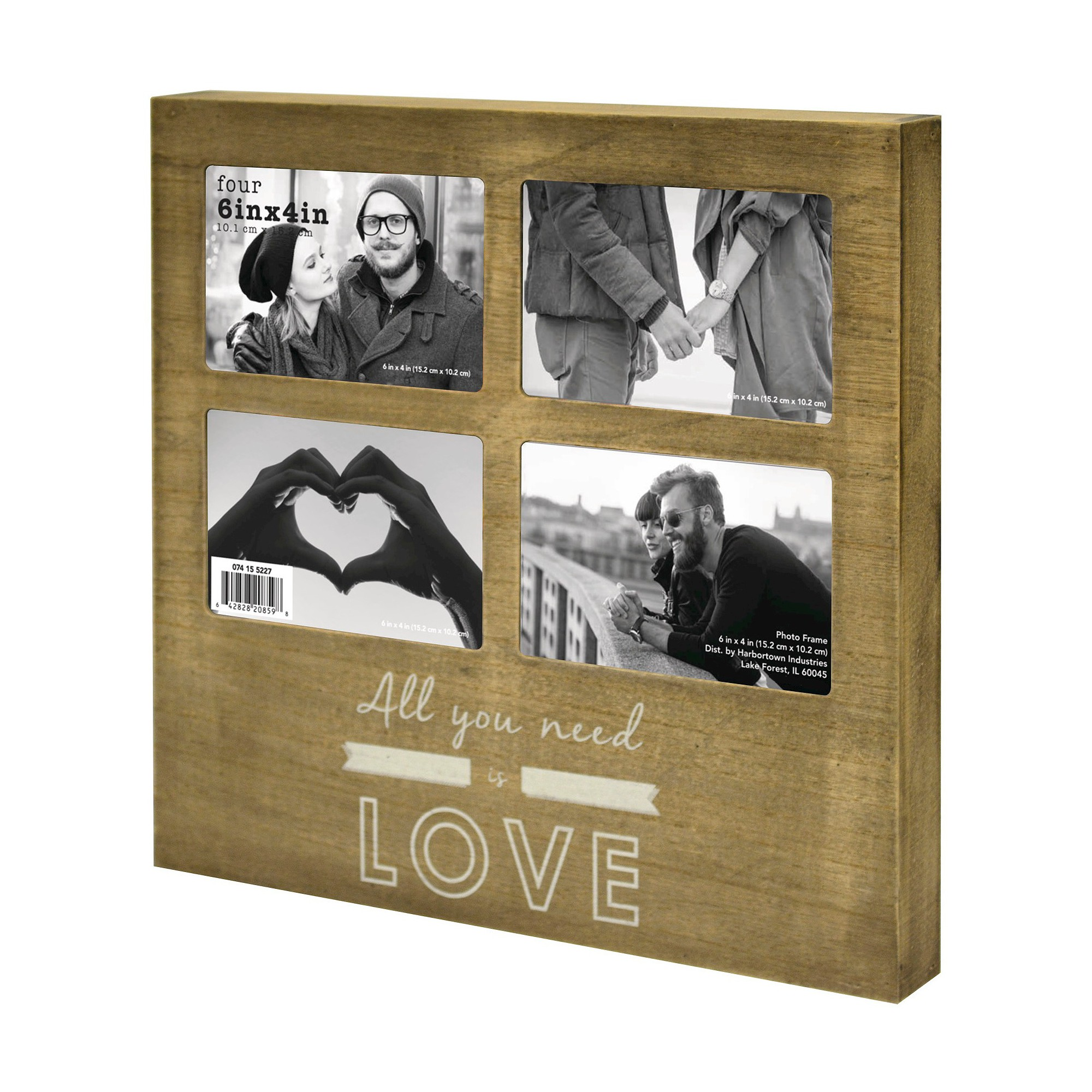 4 Opening Frame - All You Need Is Love Deep Box Collage - Holds 4 ...