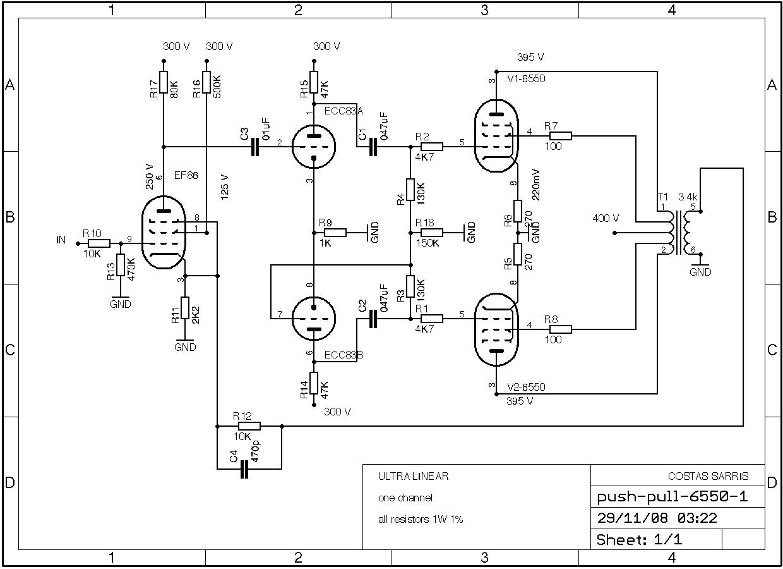 Pp Audio Amp Schematic