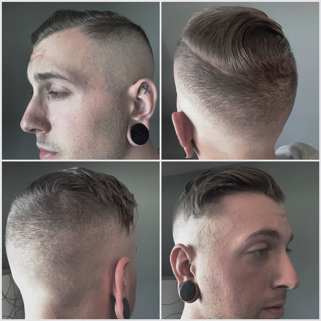 Prohibition Hardcore Mens Cut Skin Fade Shaved Hard Part