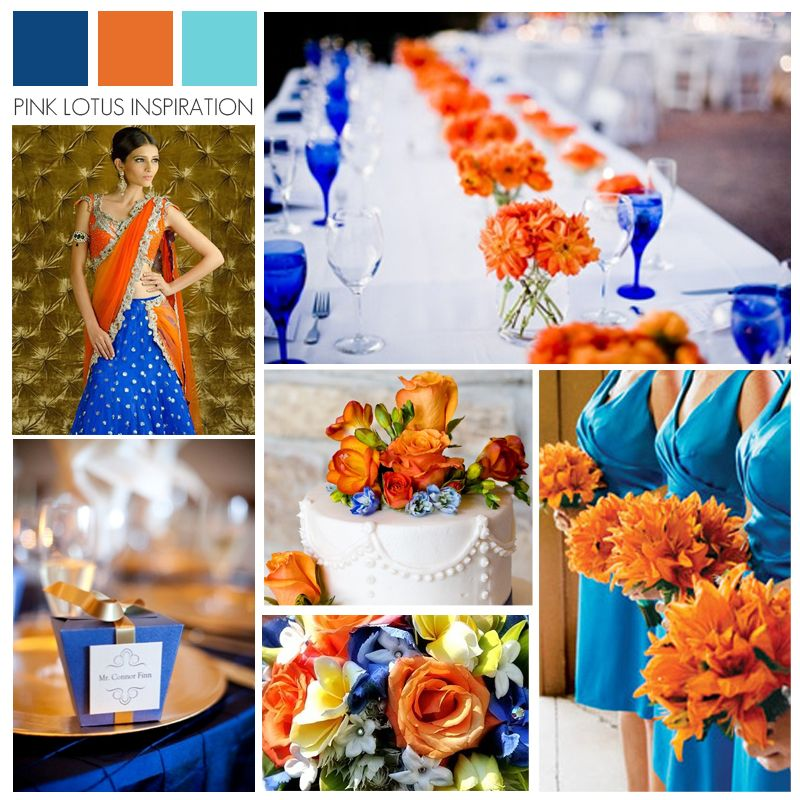 Royal Blue And Burnt Orange Wedding Burnt Orange Weddings