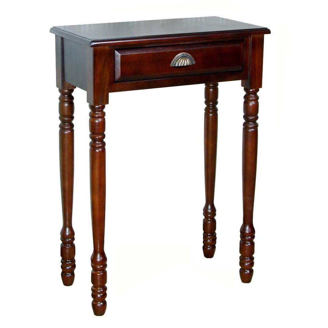 Living Room Translate To Indo: Refurbished Handmade D-Art End Table With 1 Drawer