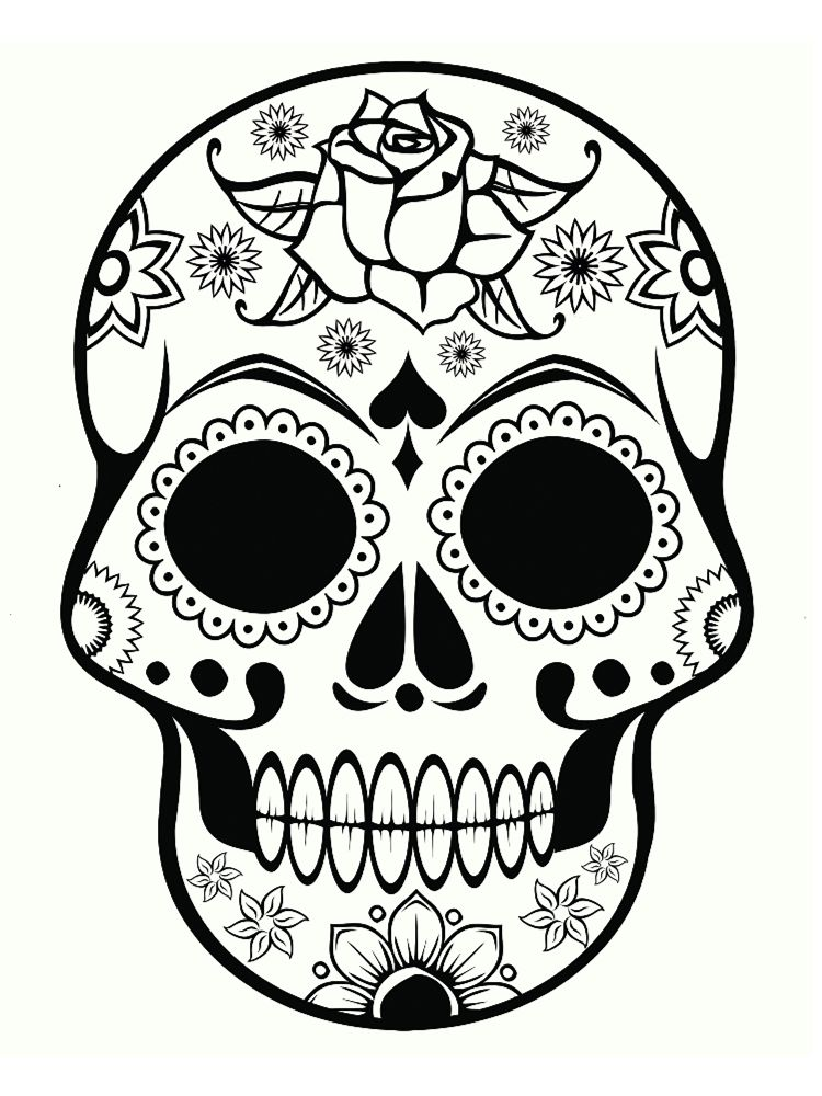 Coloriage tête de mort mexicaine : 20 dessins à imprimer