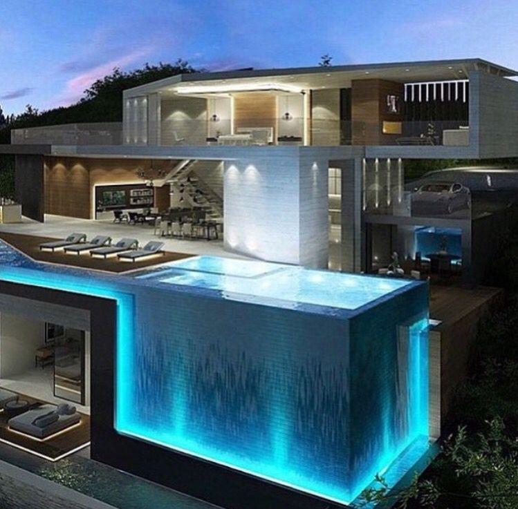Casa de lujo | Modern house design, House designs exterior ...