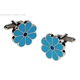 Women's Cufflinks (but not just for women!) - Blue Flowers