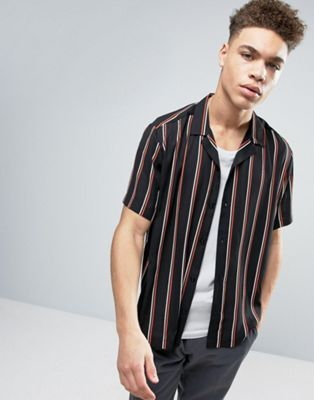 44633e23fd Regular Fit Viscose Shirt With Stripes and Revere Collar | Things to ...