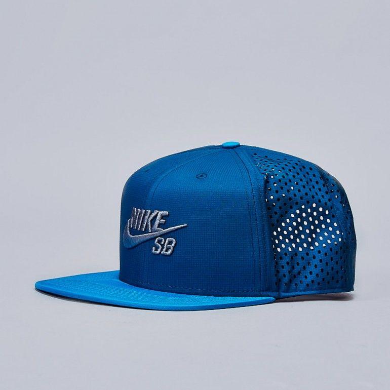Nike Sb Performance Trucker Snapback Cap Light Blue Lacquer Blue Force Gorras Planas Gorras Gorra